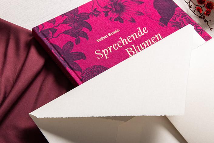 Echt Bütten DIN C5 Kuverts mit spitzer Klappe und passenden Büttenkarten als Glückwunschkarte