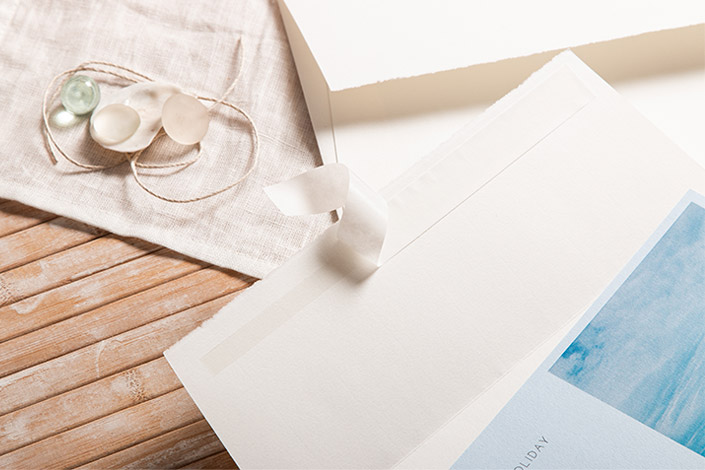 Briefumschläge DIN C5 aus echtem Büttenpapier mit Haftklebung für Gustcheine