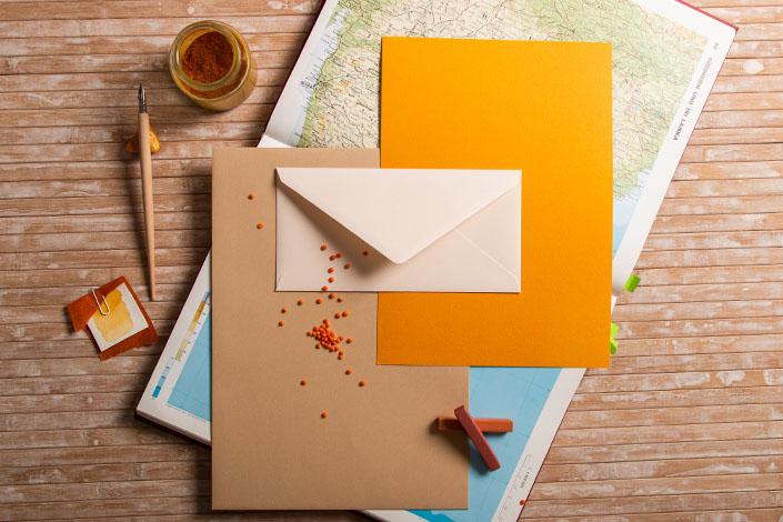 Tintoretto Ceylon Papier - Farbpalette spicy India für den Herbst