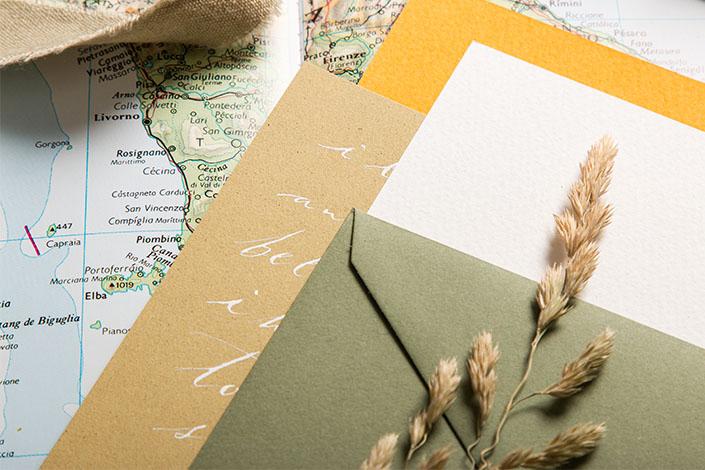 Tintoretto Ceylon Curry Papier - Farbpalette Herbst in der Toskana