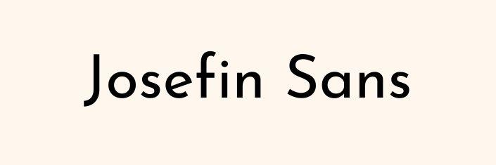 Font Josefin Sans