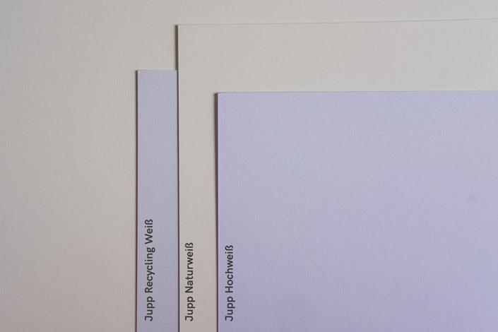 Jupp A4 Papier - Vergleich der verschiedenen Ausfühurungen