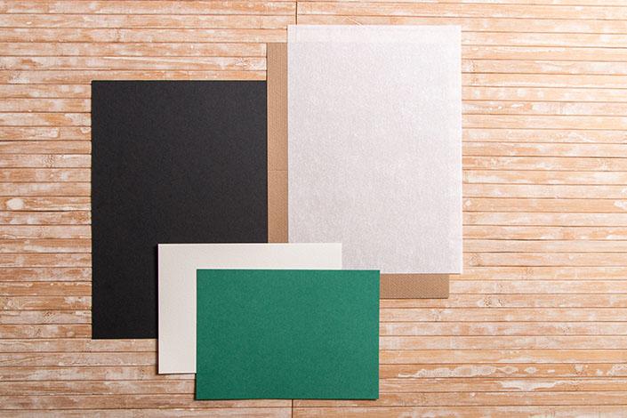 DIN A5 Karten im Vergleich zu einem DIN A4 Blatt