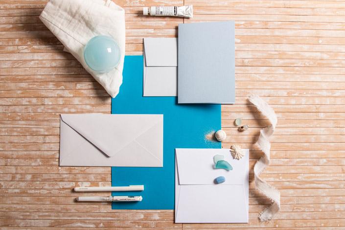 Colorplan Tabriz Blue im Papeterie Mix für Beach Weddings