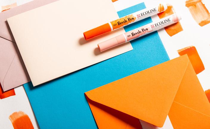 Colorplan Tabriz Blue - sommerliche Farbpalette für Papeterie mit Orangetönen