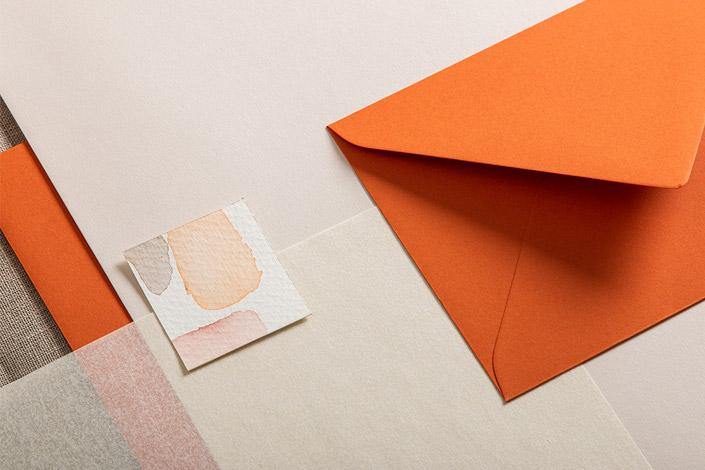 B6 Hülle Colorplan Rost mit Transparent Pergament und Colorplan Mist