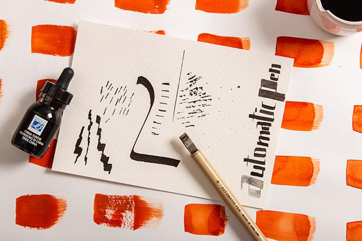 Zeichenübungen mit dem Automatic Pen auf Luma Künstlerpapier