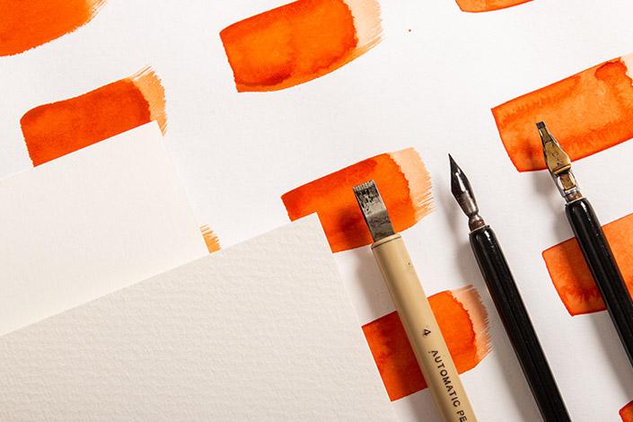 Luma Aquarellpapier mit glatter und rauer Oberfläche