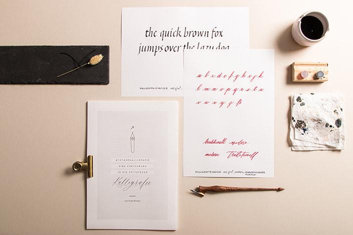 Kalligrafiepapier für Spitzfeder und Bandzugfeder