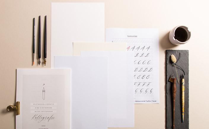 Kalligrafiepapier - verschiedene Papiersorten für Kalligrafieeinsteiger