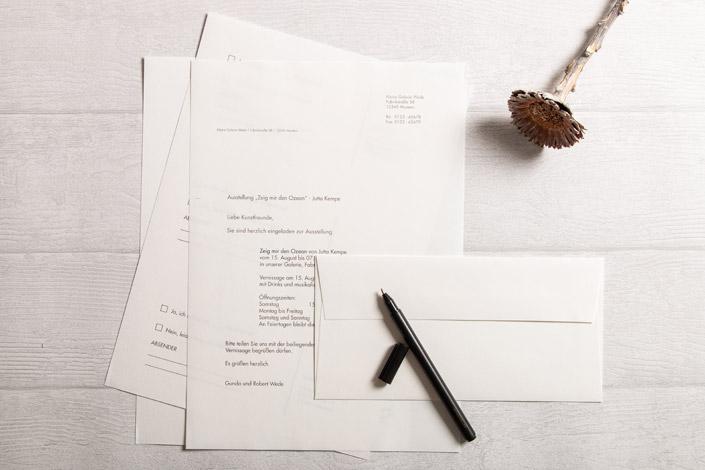 Geschäftsbrief gedruckt auf Old Mill Papier in 100 g/m² mit passendem Kuvert