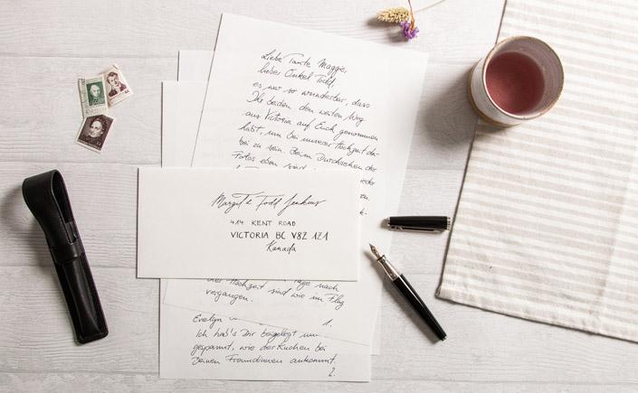 handgeschriebener Brief auf dem Feinpapier Old Mill