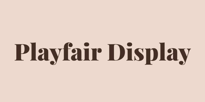 Schriftmuster des Freefonts Playfair Display