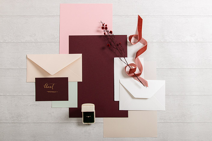Colorplan Claret Papier für Hochzeiten