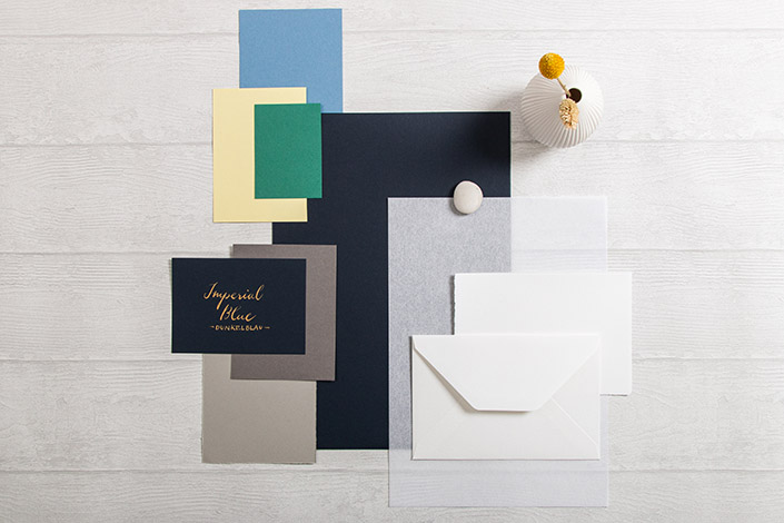 Colorplan Imperial Blue Papier für Hochzeiten
