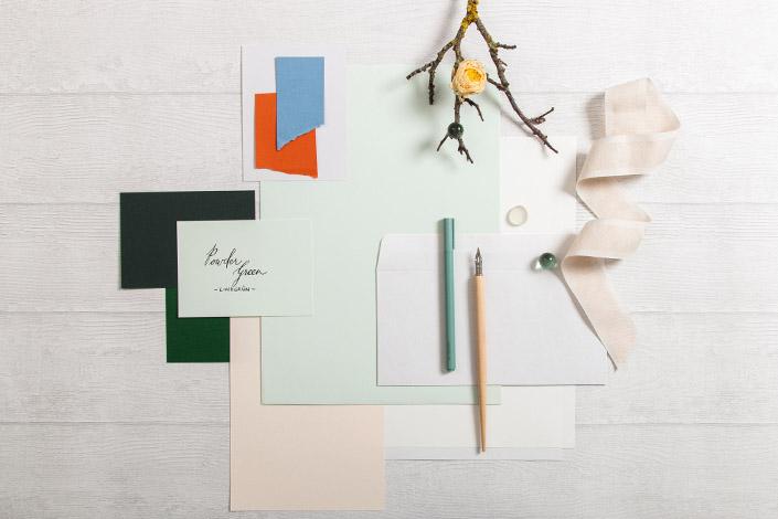 Colorplan Powder Green Papier für Hochzeiten