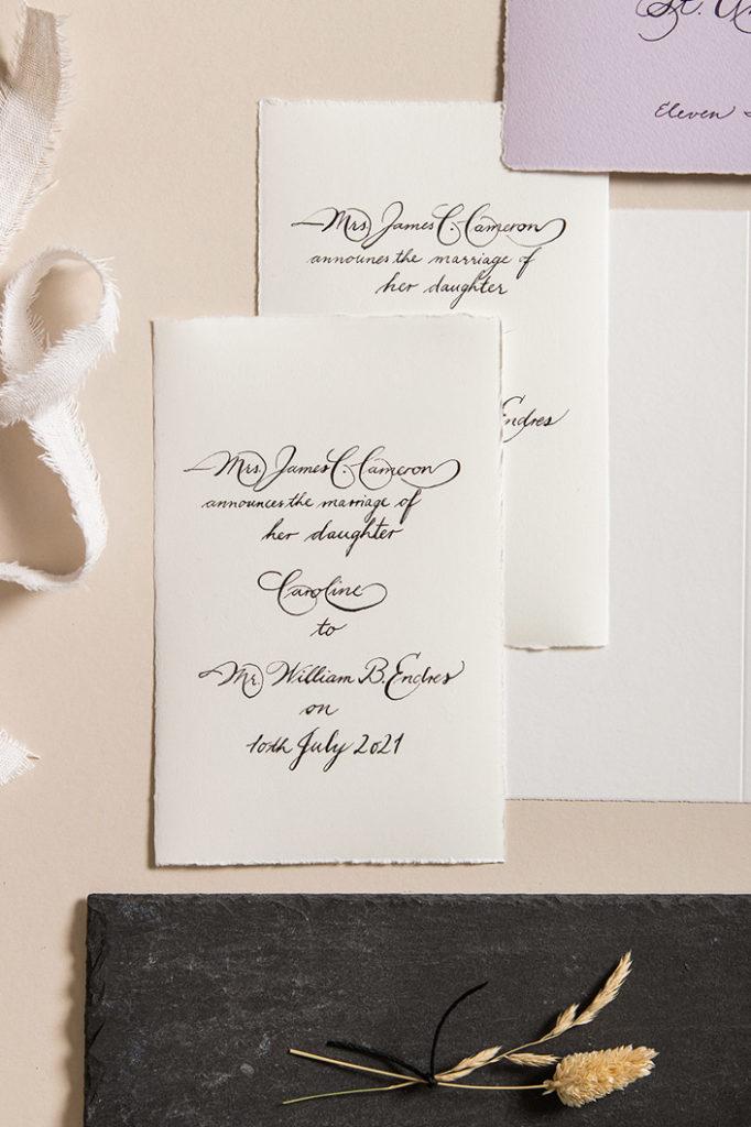 Büttenpapiere und Büttenkarten für feinste Kalligrafie