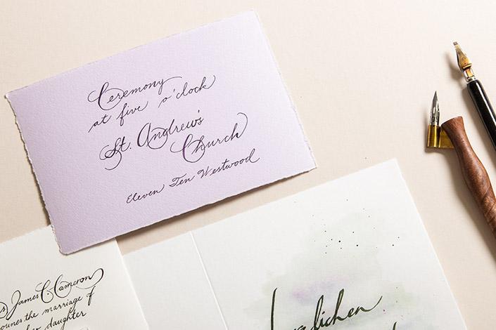 Büttenpapier für elegante Kalligrafie