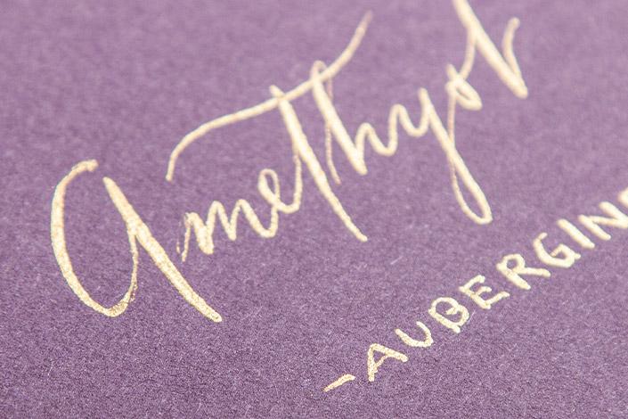 Colorplan Amethyst (Aubergine) als Kalligrafie Papier