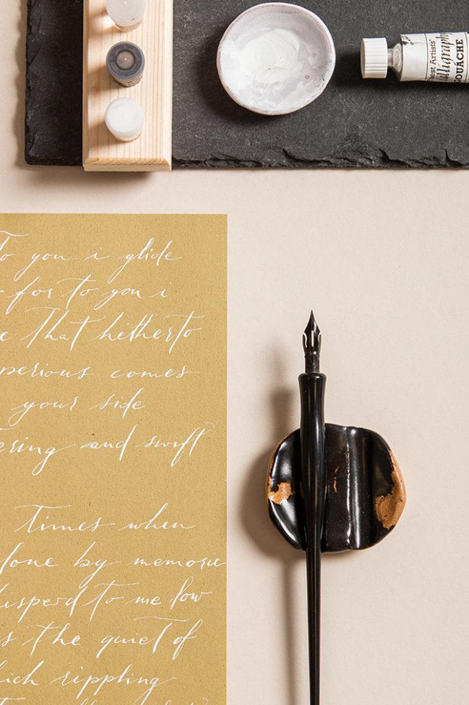 Feinpapier Crush als Kalligrafie Papier
