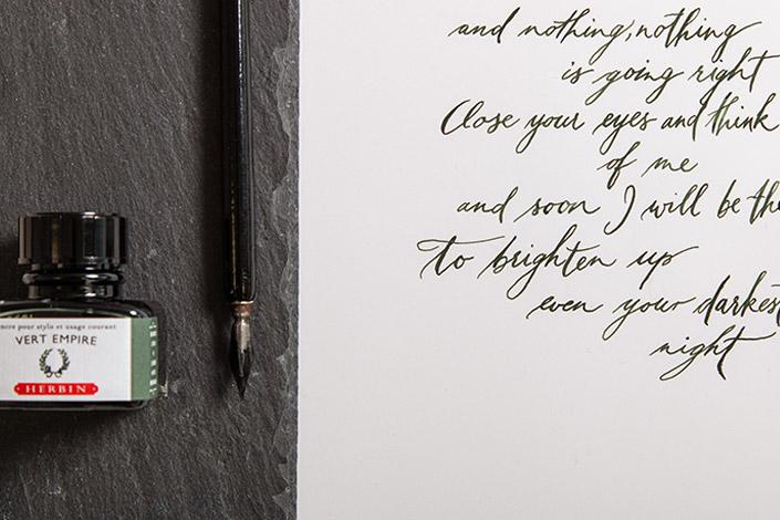 Naturweißes Kalligrafie Papier für anspruchsvolle Kalligrafie