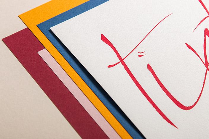 Kalligrafie Papier Tintoretto Ceylon in der Farbübersicht