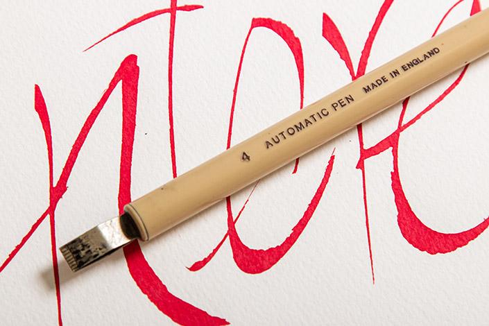 Tintoretto Ceylon als Kalligrafie Papier mit Automatic Pen