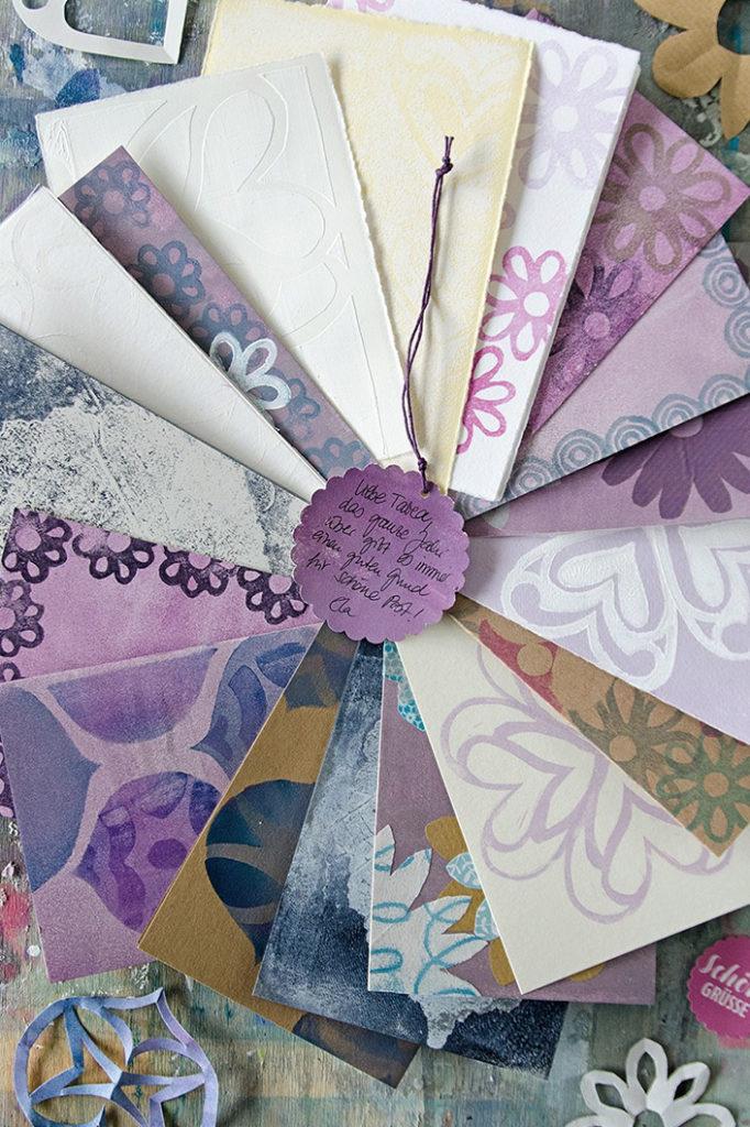 DIY Karten aus Büttenpapier und Kraftpapier