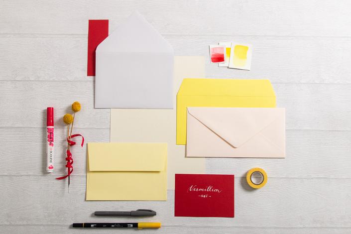 Farbpalette für Papeterie Mix mit Frühlingsfarben