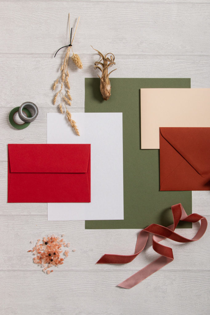 Inspiration für Papeterie in herbstlichen Farben