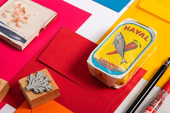 Papeterie Inspiration mit sommerlichen Farben