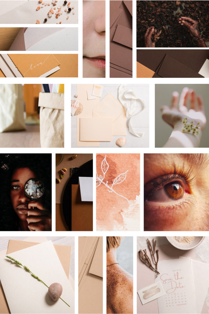 Trendfarben Hauttöne als Collage