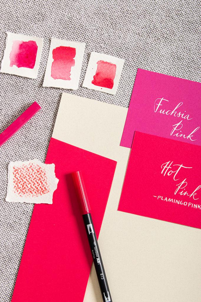 Pinke Papiere zum Farbtrend 2021