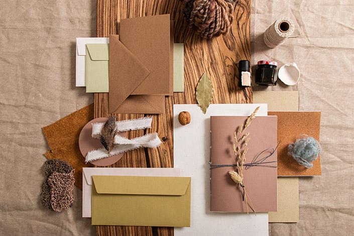 Naturpapiere und Naturmaterialien zum DIY Trend 2021