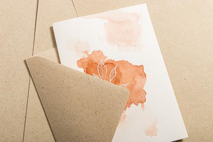 Umschlag aus Graspapier mit B6 Aquarellkarte