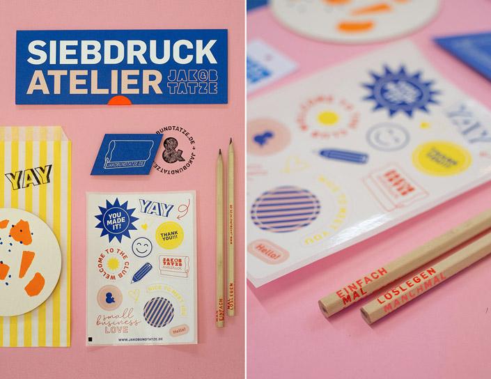 Corporate Design des Siebdruck Ateliers Jakob und Tatze