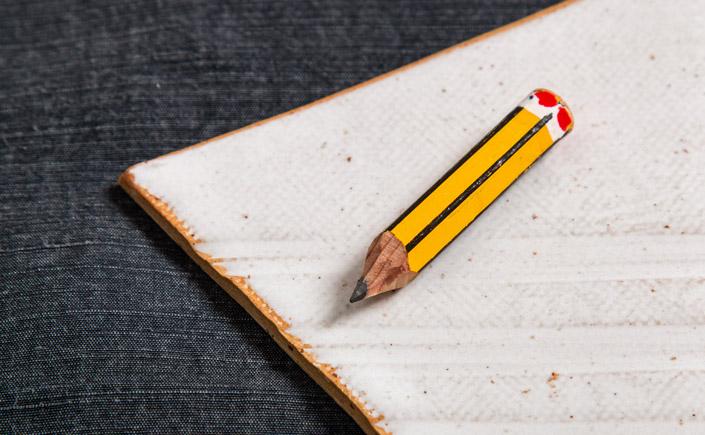 Bleistift mit typischer gelb schwarzer Lackierung