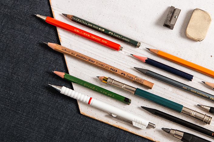 Bleistifte unterschiedlicher Hersteller