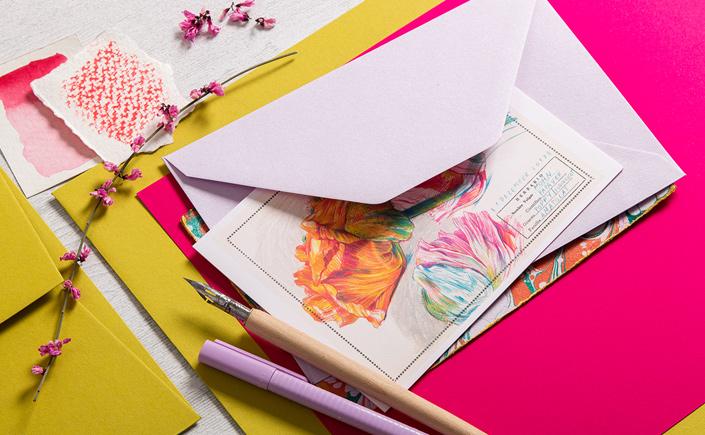 Detail eines Flatlay der Papeterie rund um Colorplan Kiwigrün