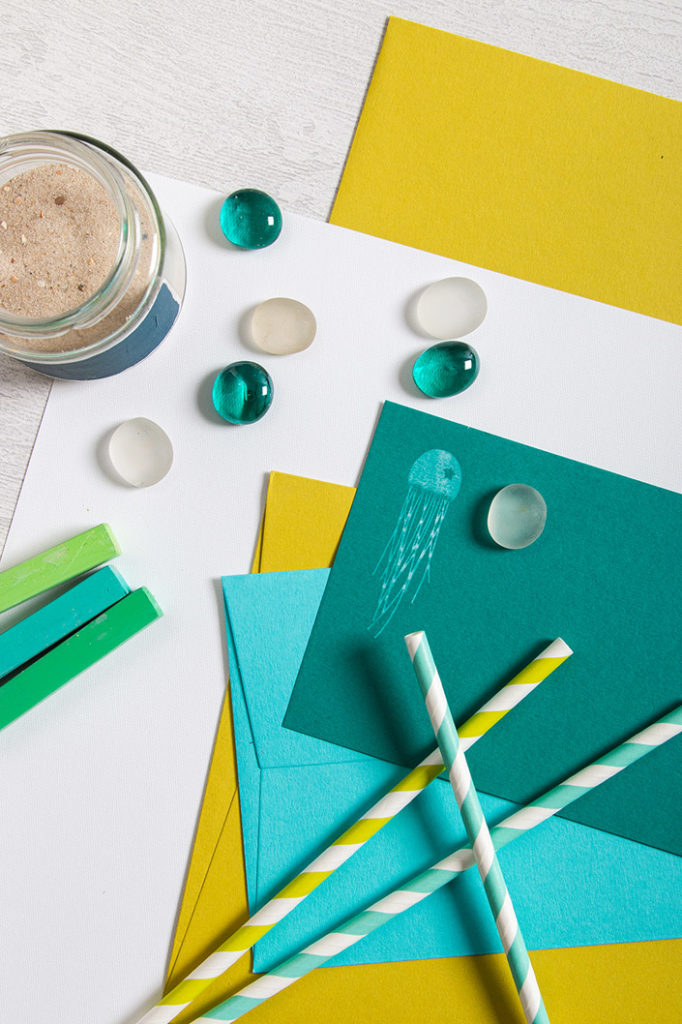 Detailansicht der Farbpalette aus Colorplan Papieren und Accessoires