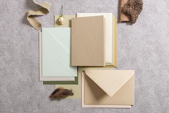 Graspapierkarten in Kombination mit Crush und Colorplan