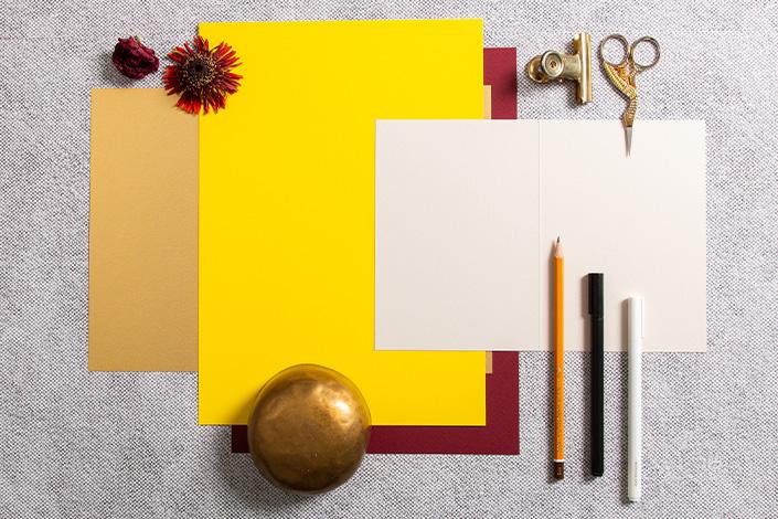 Herbstliche Farbpalette mit Colorplan Papieren