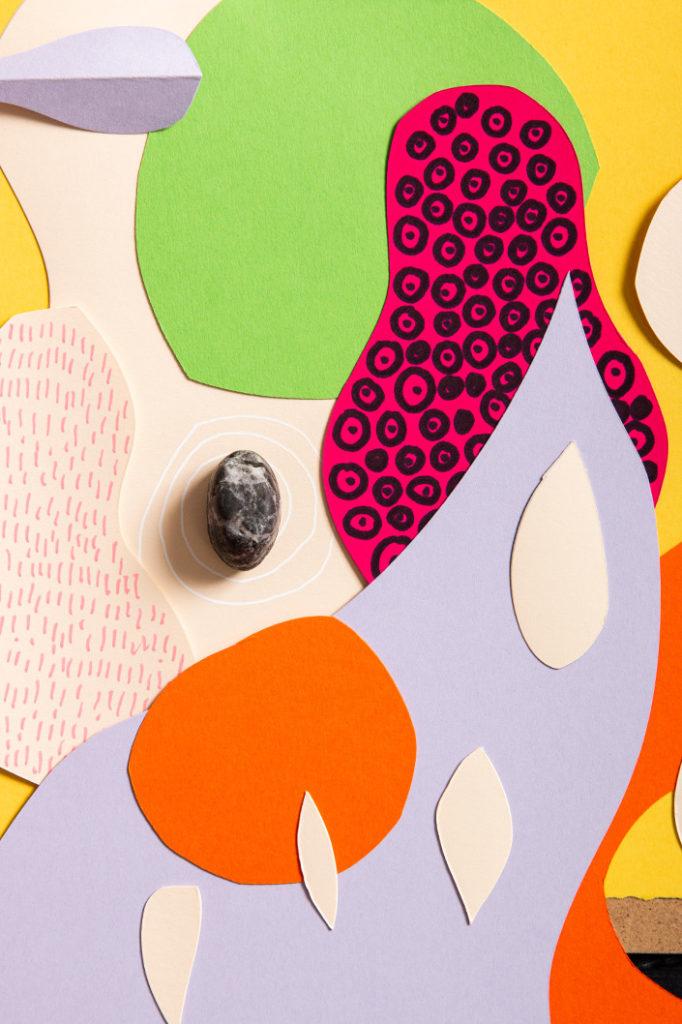 Hot Colors Papiere als Collage