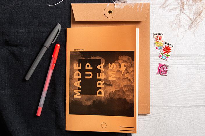Hot Colors Aprikose als Briefumschlag kombiniert mit Bindfadenverschluss Umschlag