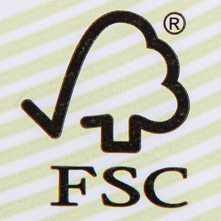 FSC Label für Produkte aus verantwortungsvoller Forstwirtschaft