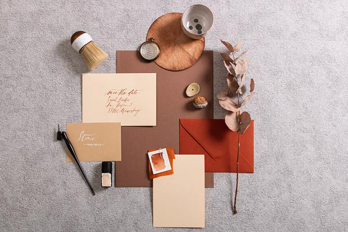 Herbstlichen Farbpalette bestehend aus Vanilla, Colorplan und Blush