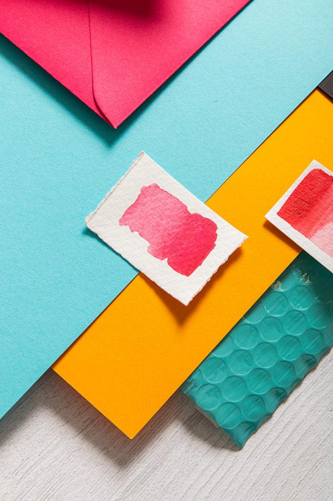 Detailfoto aus dem Farb-Moodboard zum Sommermix Flamingopink.